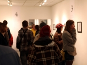 Gallery goers at
